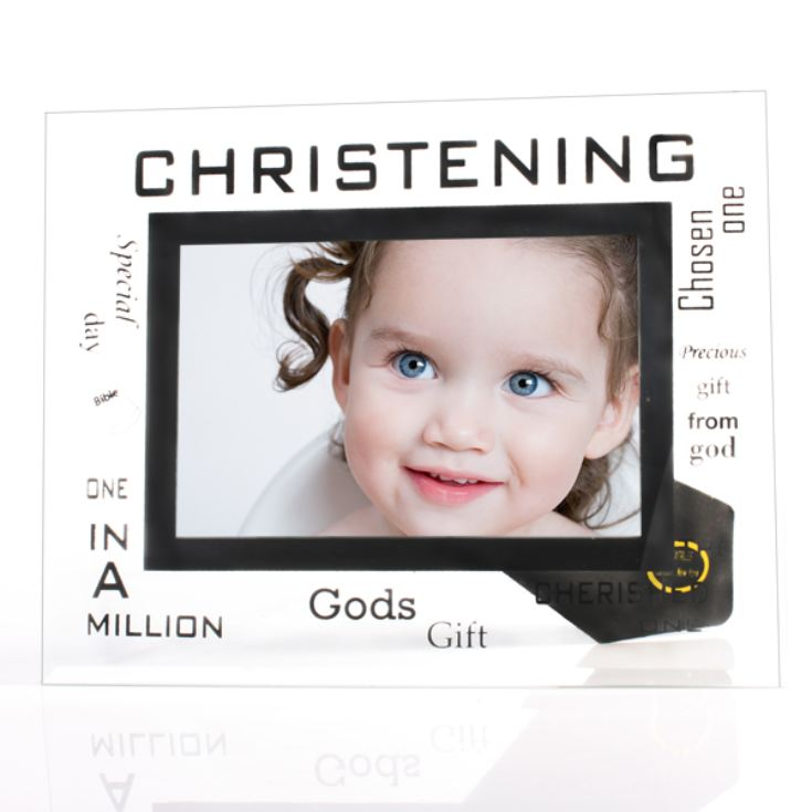 Christening Glass Photo Frame product image