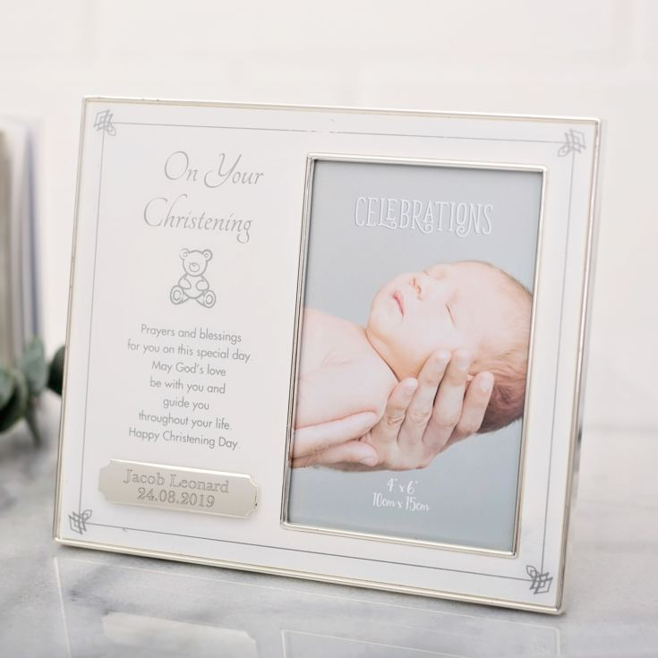 On Your Christening Engraved Photo Frame product image