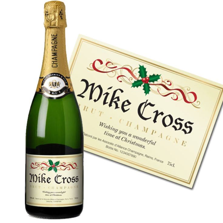 Personalised Christmas Champagne product image