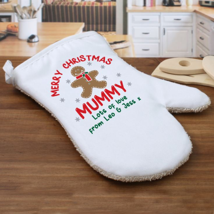 Personalised Christmas Gingerbread Man Oven Glove product image
