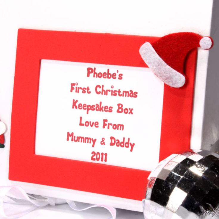Personalised 1st Christmas Memory Box product image