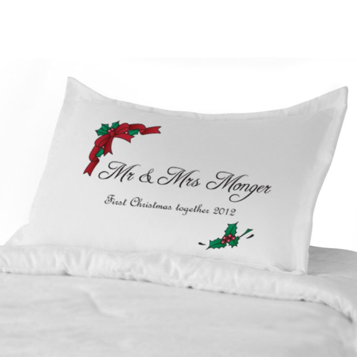 Personalised Christmas Mr & Mrs Pillowcases product image