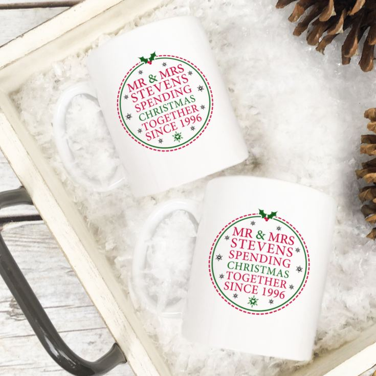 Personalised Spending Christmas Together Mugs product image