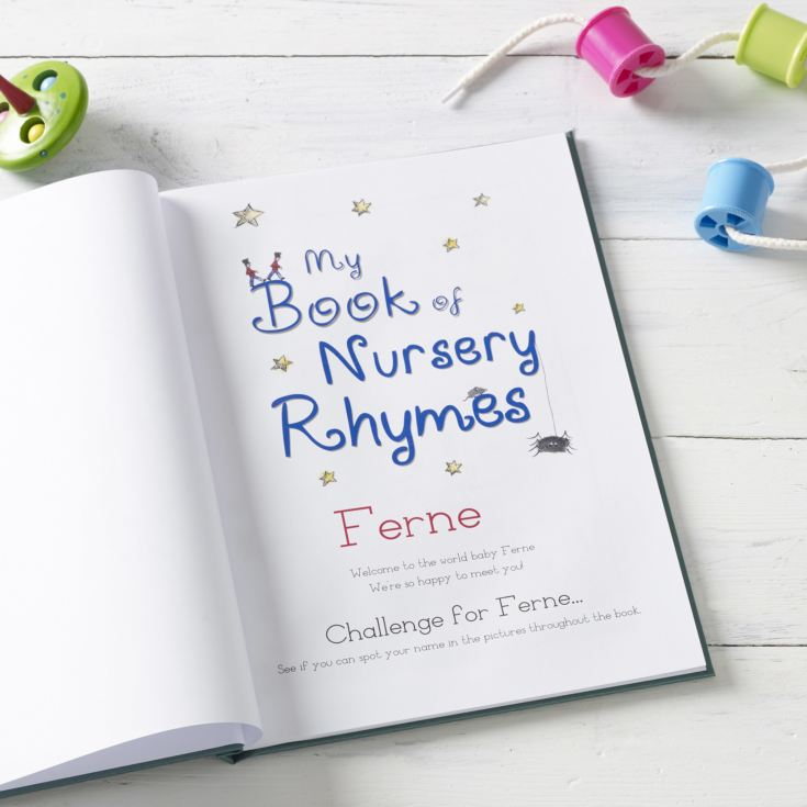Personalised Hardback Classic Childrens Book - Nursery Rhymes product image