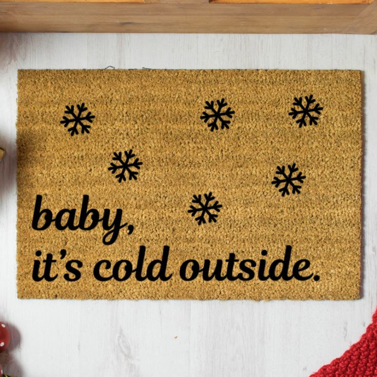 Baby Its Cold Outside Doormat product image