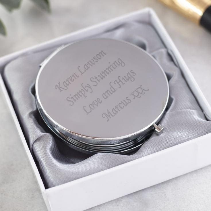 Personalised Silverplated & Crystal Bumble Bee Compact Mirror product image