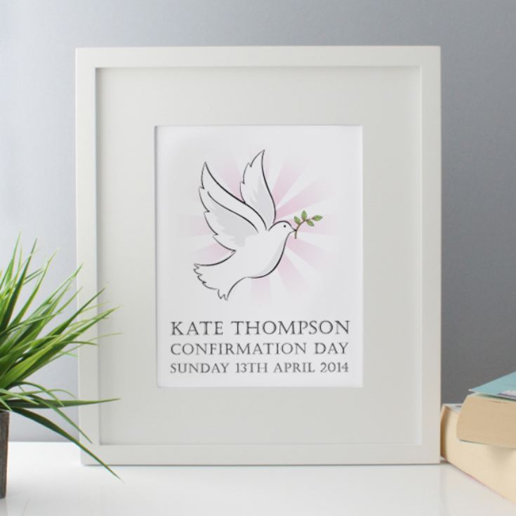 Personalised Confirmation Day Framed Print product image