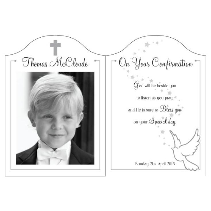 On Your Confirmation Photo Message Plaque product image