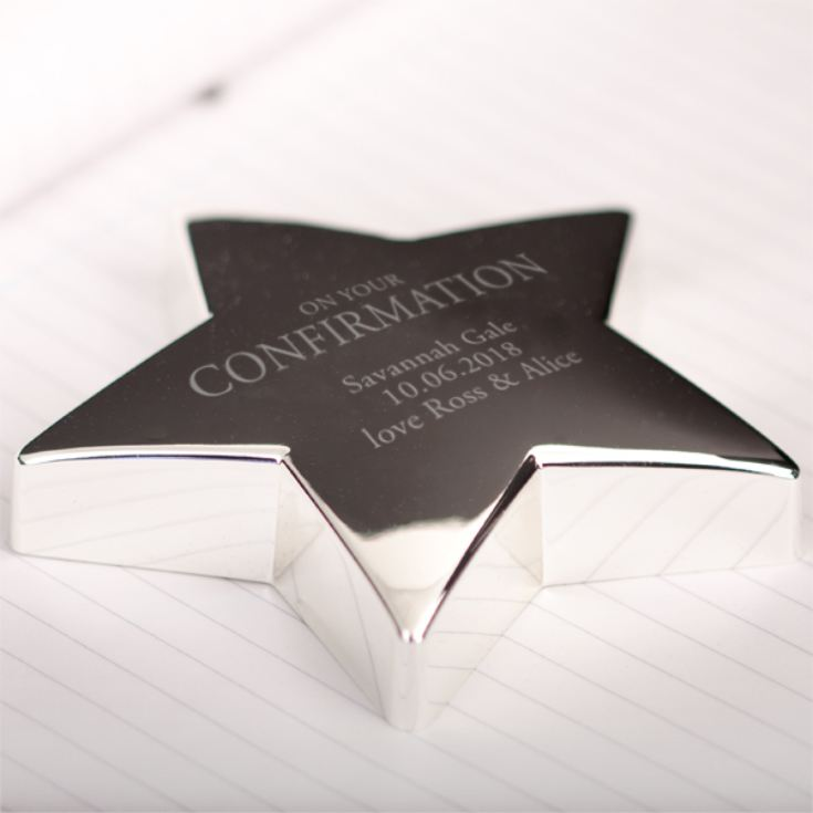 Personalised Confirmation Star Paperweight product image