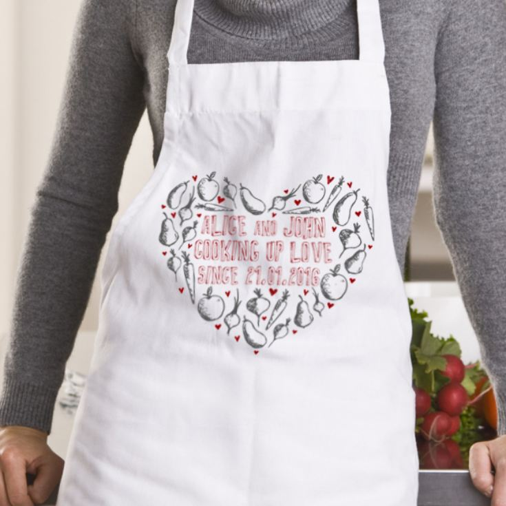 Personalised Cooking Up Love Apron product image