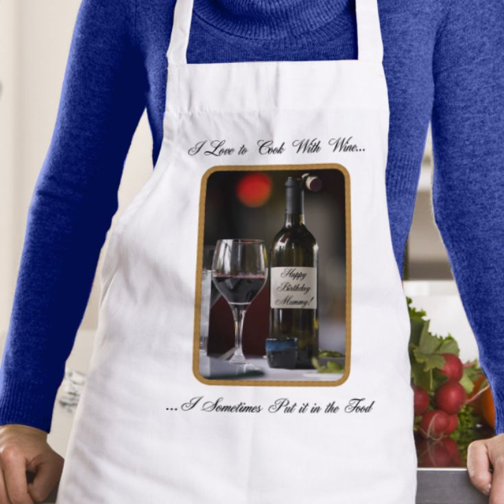 I Love To Cook With Wine Apron product image