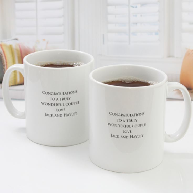 Pair of Personalised Coral Anniversary Mugs product image