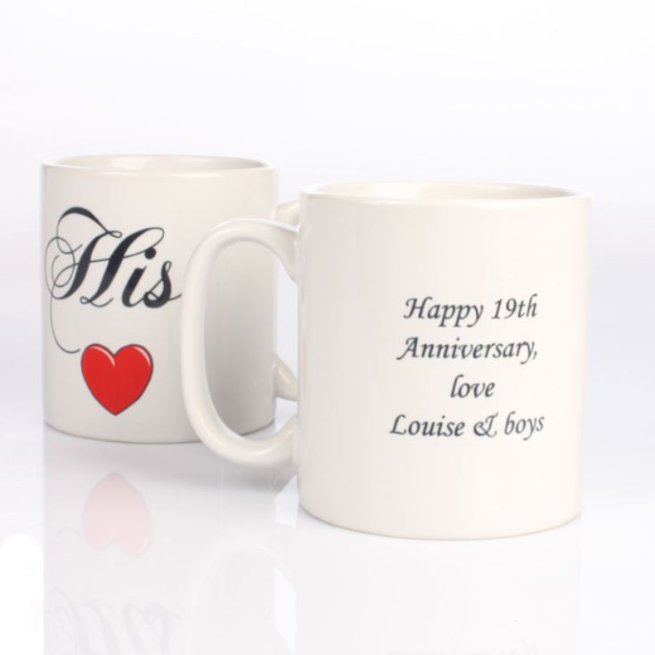 Valentines Couple Personalised Mugs product image