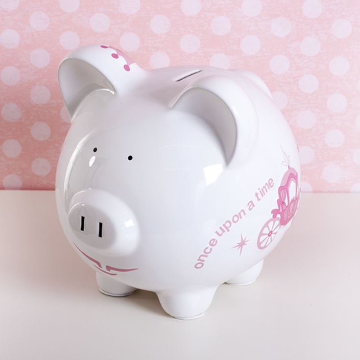 Personalised Large Piggy Bank Princess Carriage Design product image