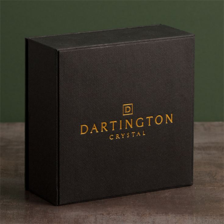 Dartington Personalised Crystal Crescent Clock product image