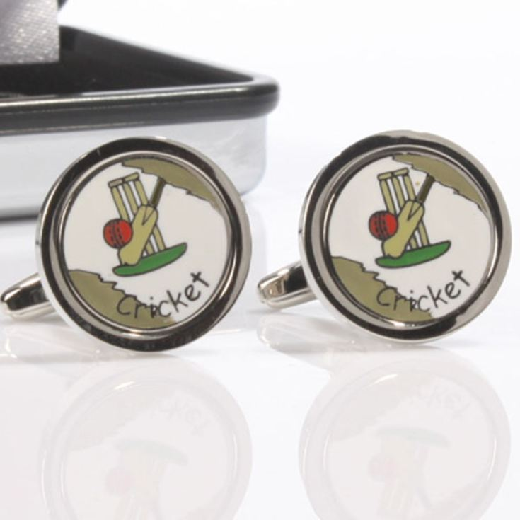 Personalised Cricket Set Cufflinks product image