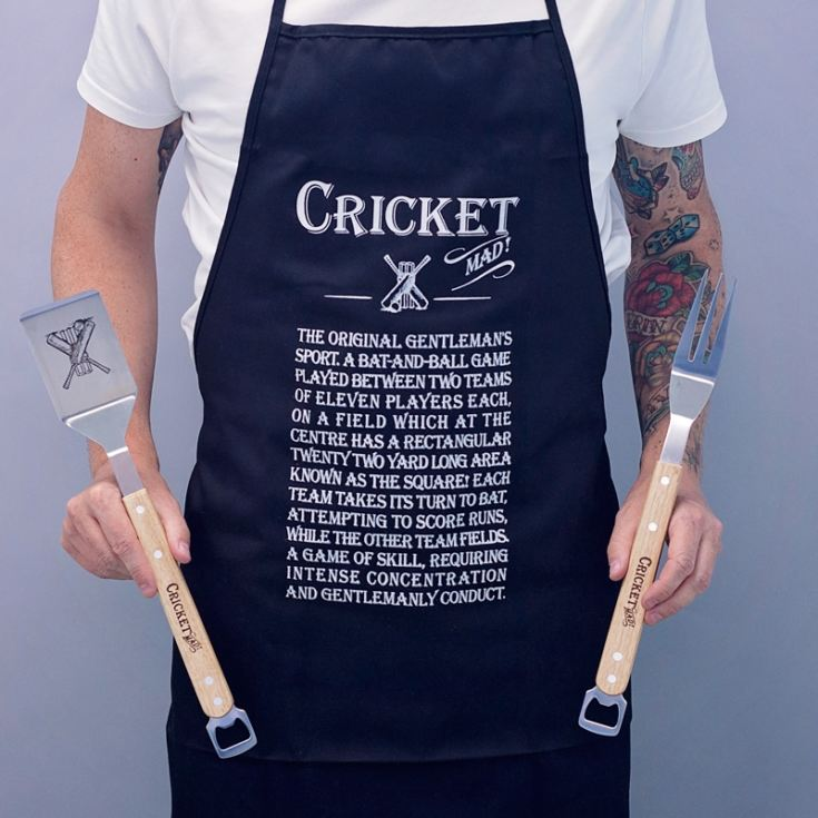 Cricket Mad Apron And BBQ Gift Set product image