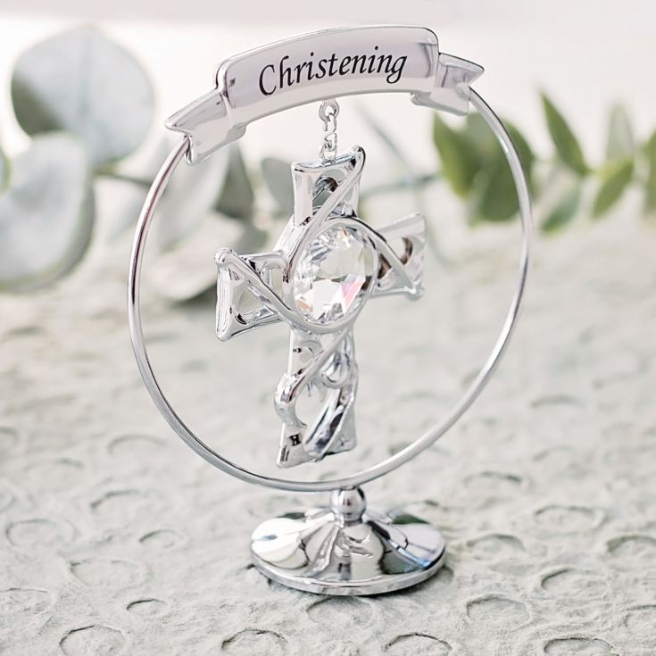 Crystocraft Christening Ornament With Swarovski Crystal product image