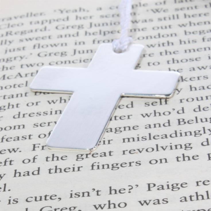 Engraved Silver Plated Cross Bookmark product image