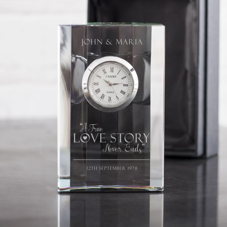 Personalised Love Story Mantel Clock product image