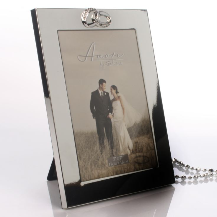 Engraved Crystal Rings Photo Frame product image