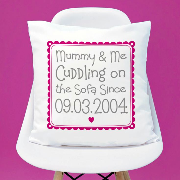 Personalised Cuddling Mummy Cushion product image