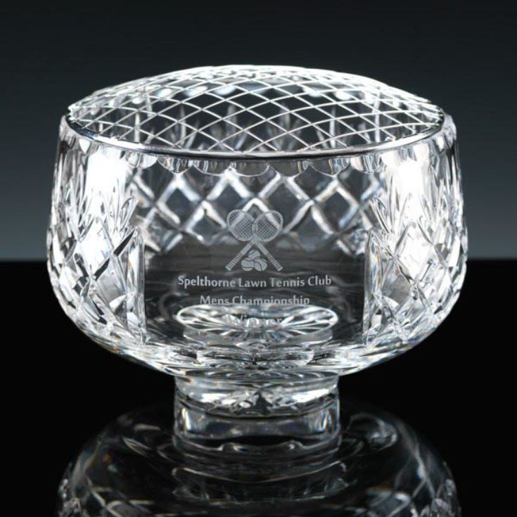 Luxury Personalised Cut Lead Crystal Rose Bowl product image