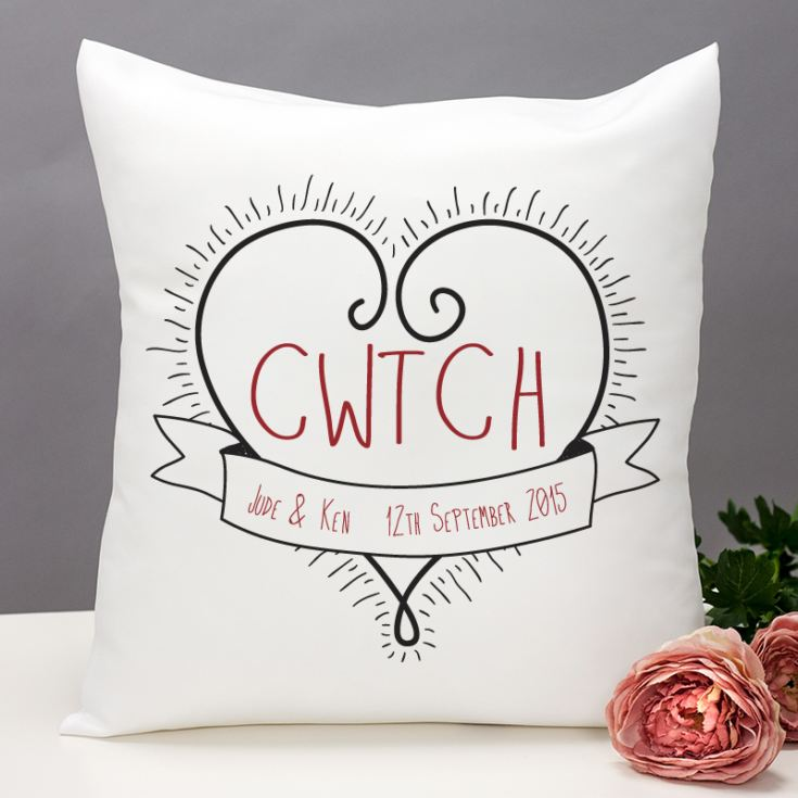 Personalised Cwtch Cushion product image