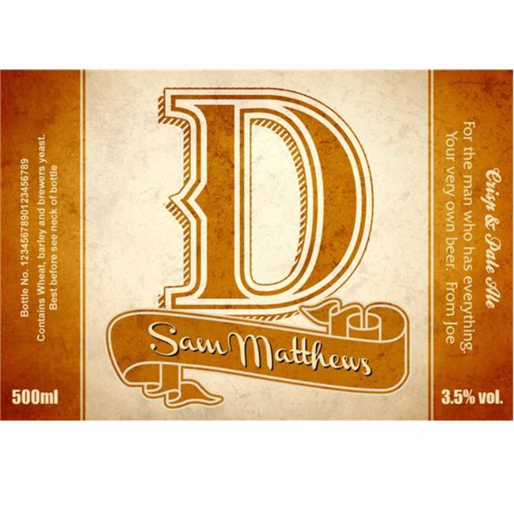 Personalised D-A-D Set Three Pack Craft Beer product image