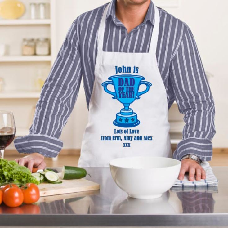Dad of the Year Personalised Apron product image