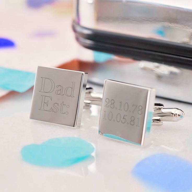 Dad Established Personalised Cufflinks product image