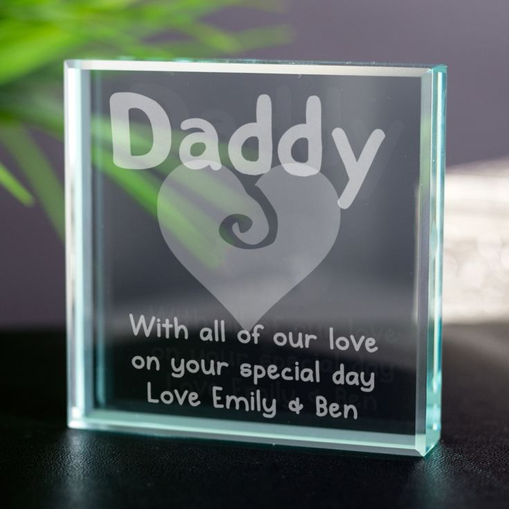 Engraved Daddy Glass Keepsake product image