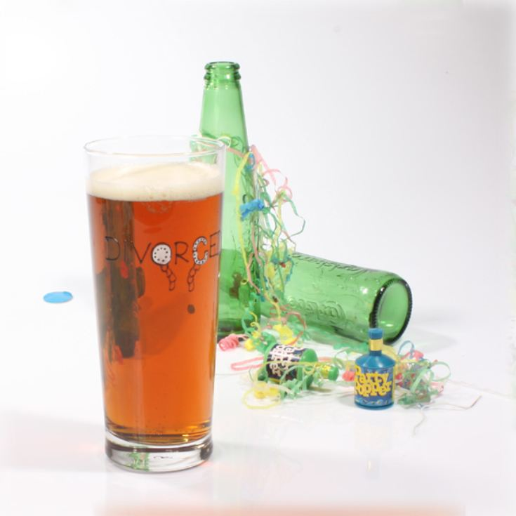 Divorced Pint Glass product image