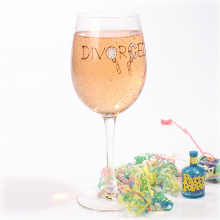 Divorced Wine Glass product image