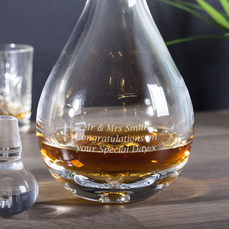 Personalised Bubble Base Teardrop Decanter product image