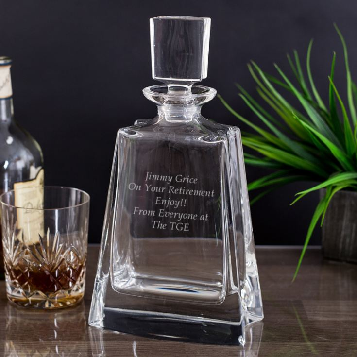 Engraved Boston Wide Decanter product image