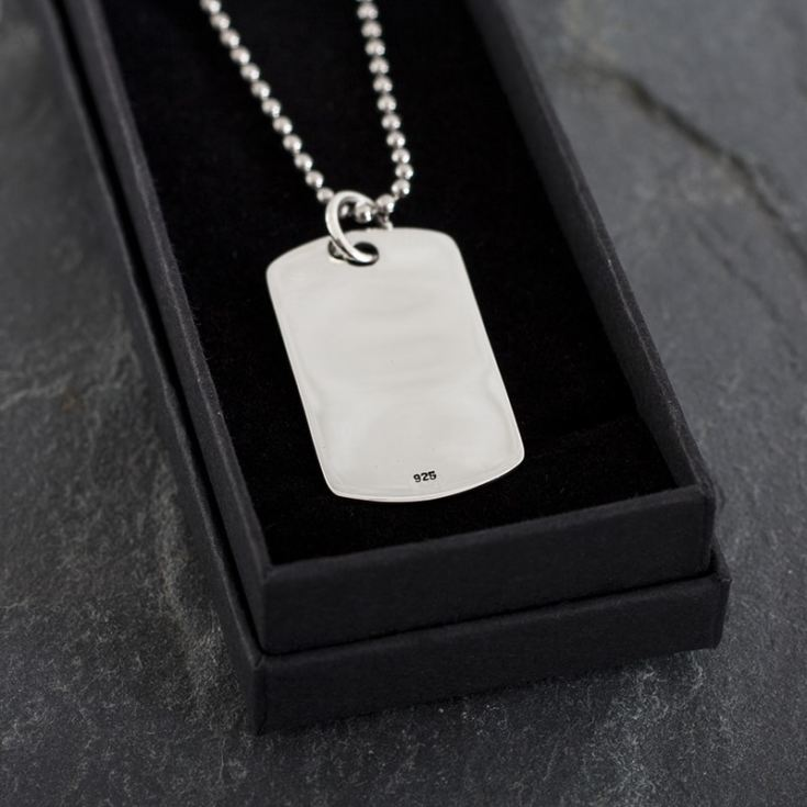 Personalised Sterling Silver ID Tag Necklace product image