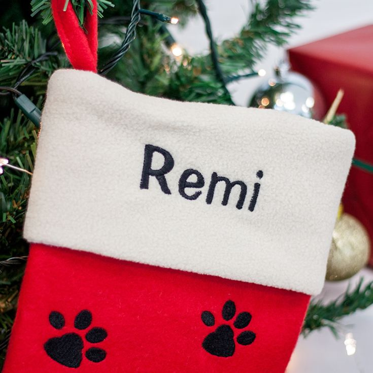 Personalised Embroidered Luxury Dog Stocking product image