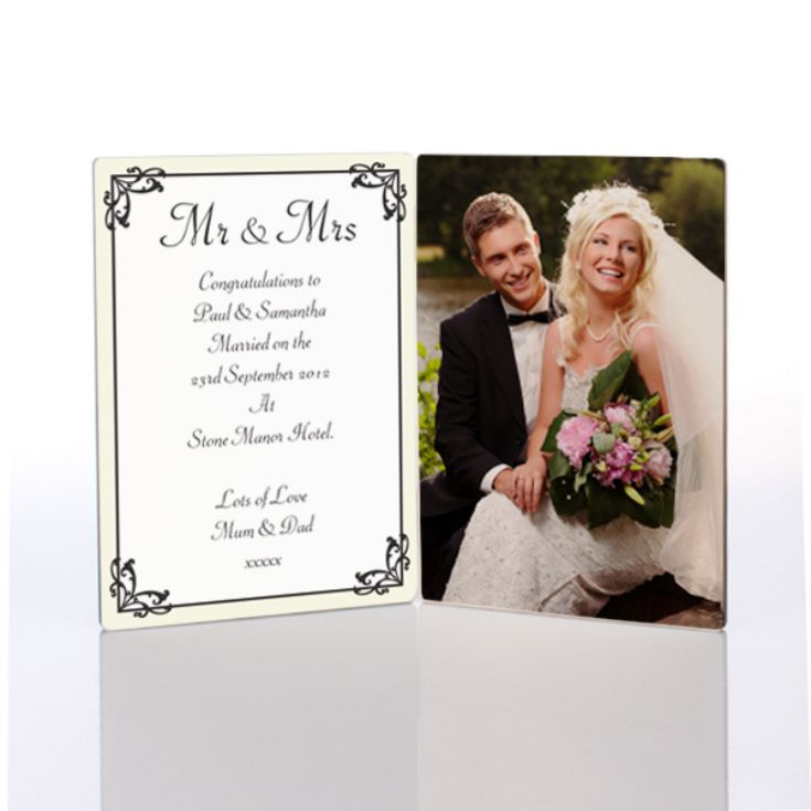 Mr and Mrs Photo Message Plaque product image