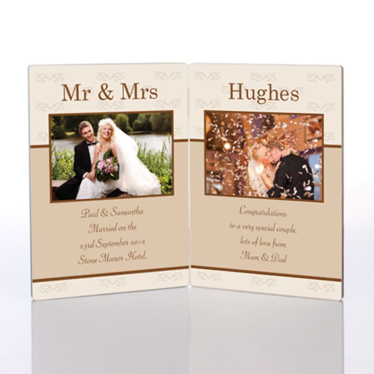 Double Mr and Mrs Photo Message Plaque product image