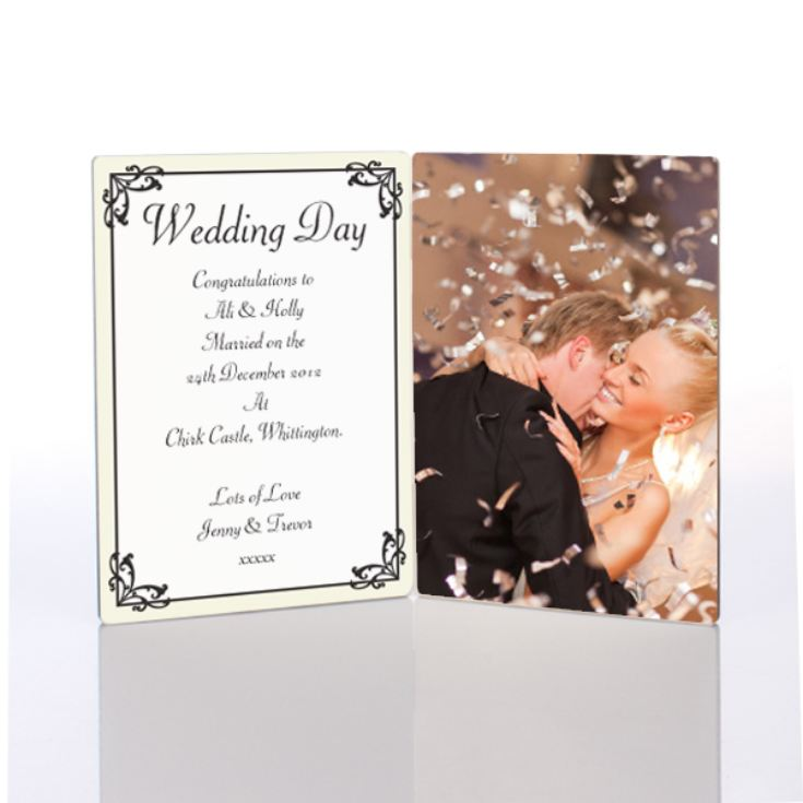 Wedding Day Photo Message Plaque product image