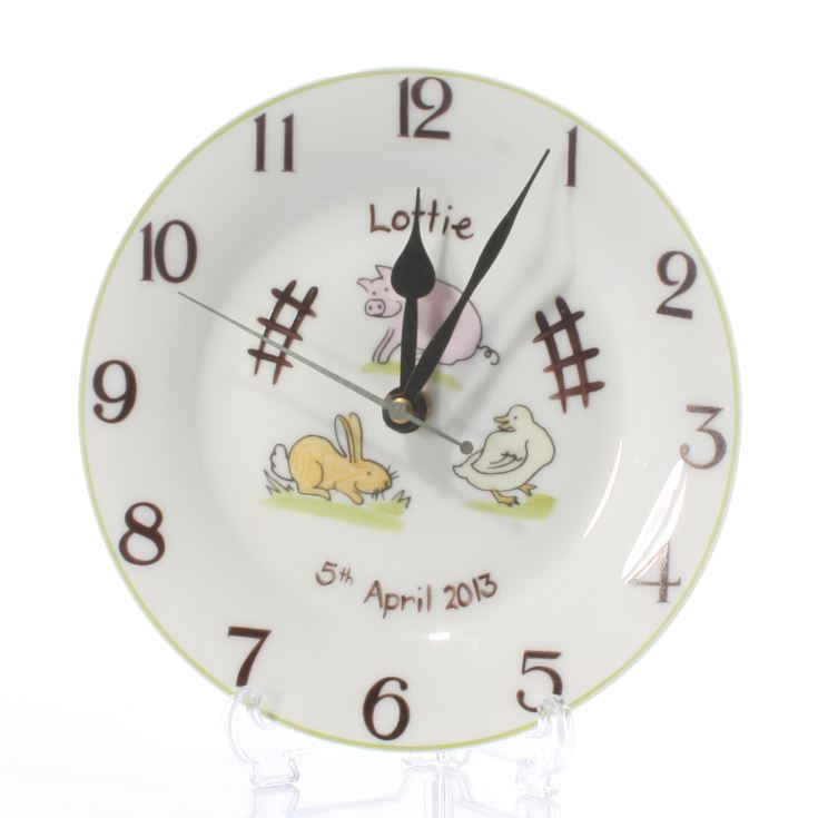 Down On The Farm Personalised Clock product image