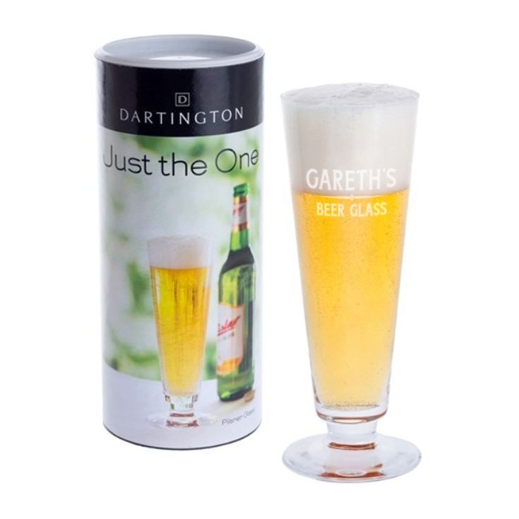 Personalised Dartington Pilsner Glass product image