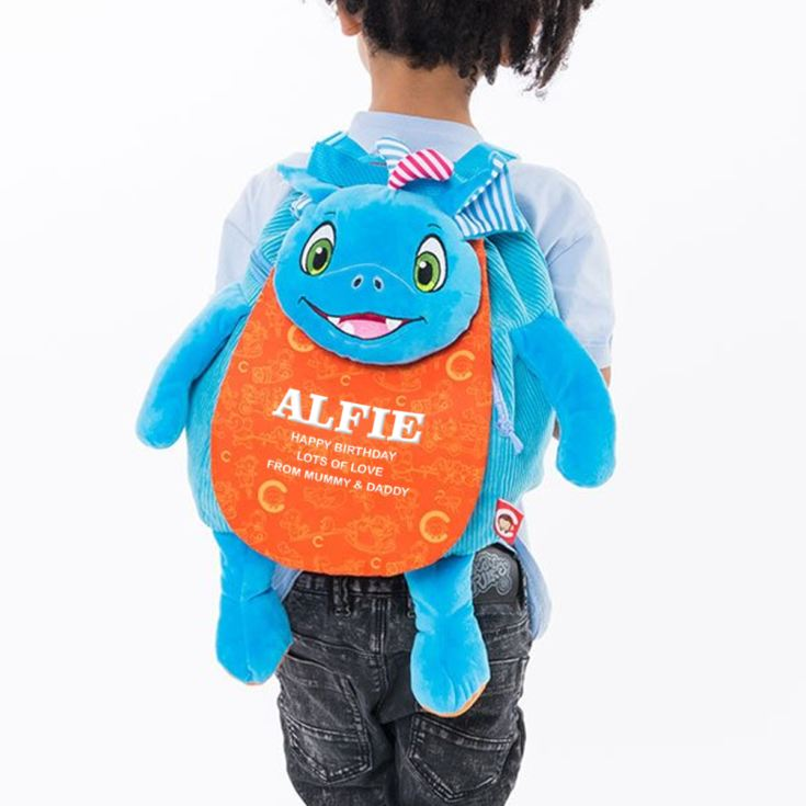 Personalised Embroidered Dragon Backpack product image