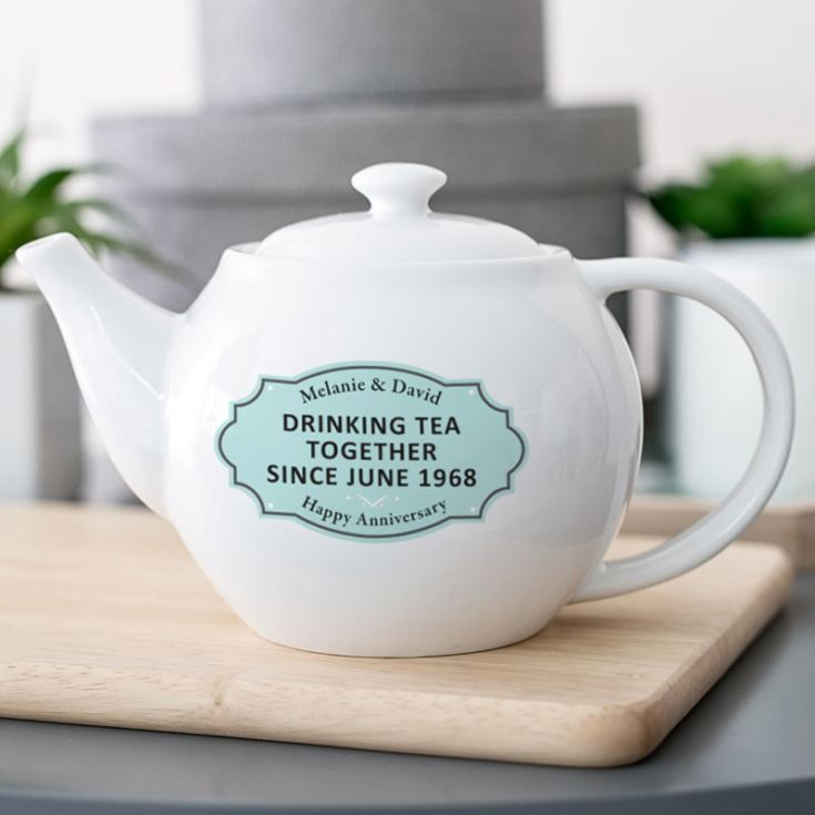Personalised Drinking Tea Together Since Teapot product image