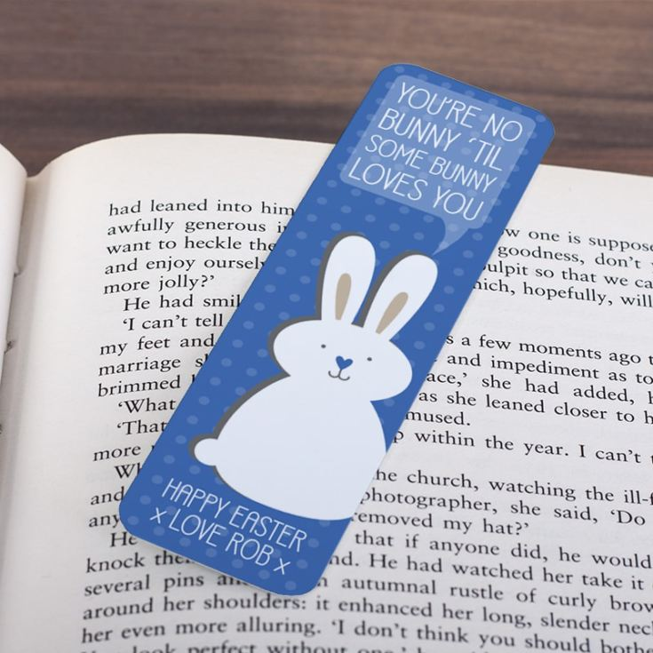 Personalised Easter Bunny Bookmark product image