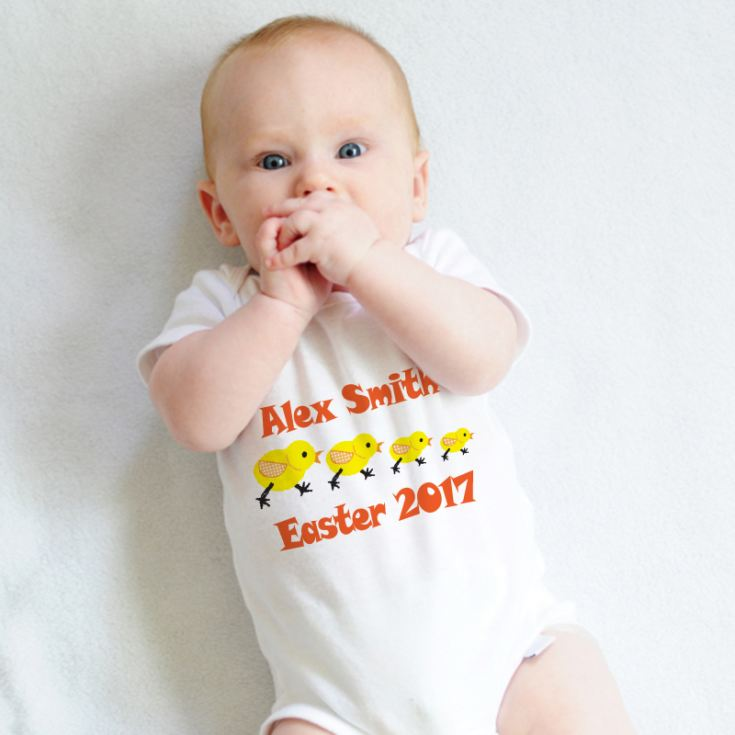 Easter Chick Personalised Baby Grow product image