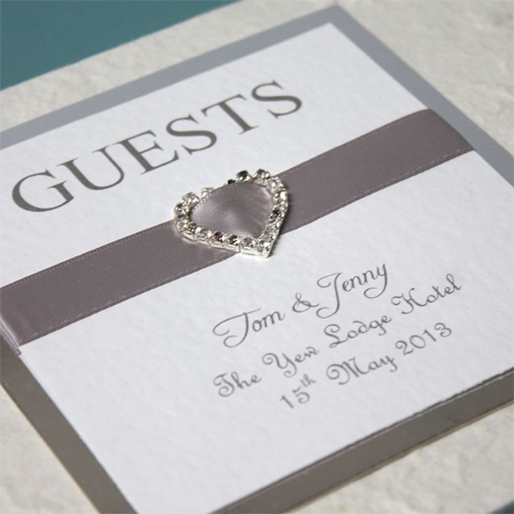 Personalised Elegant Heart Handmade Guest Book product image