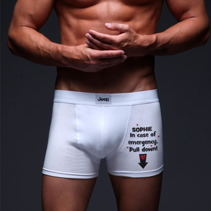 In Case of Emergency Personalised Boxer Shorts product image