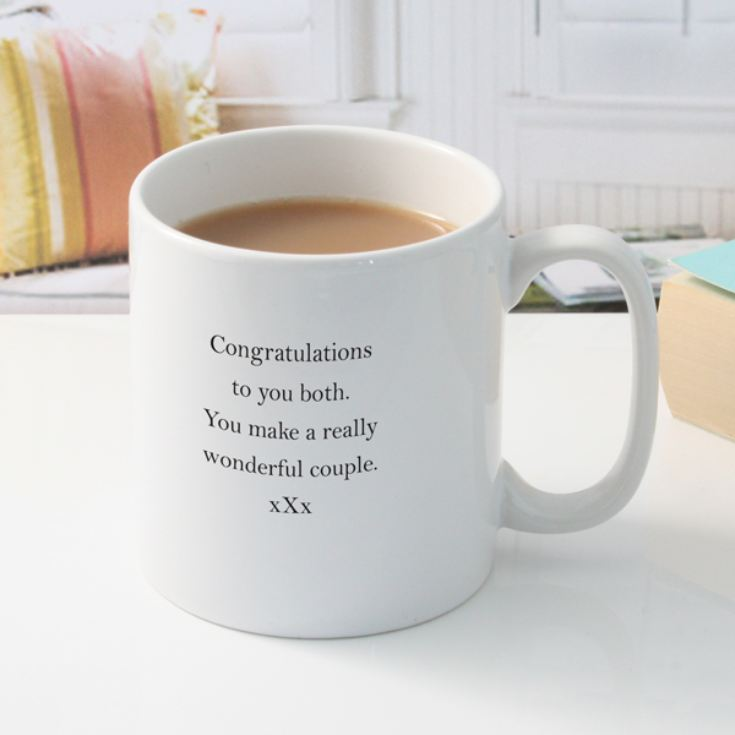 Personalised You're Engaged Heart Design Pair Of Mugs product image